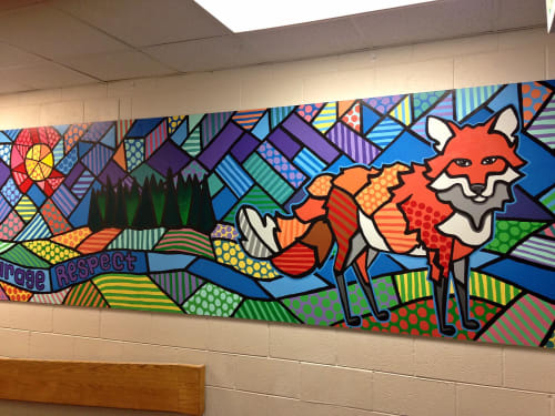 Murals by Christine Rose Curry seen at 6585 Collegiate Dr, Littleton - Fox Creek Elementary School Mural