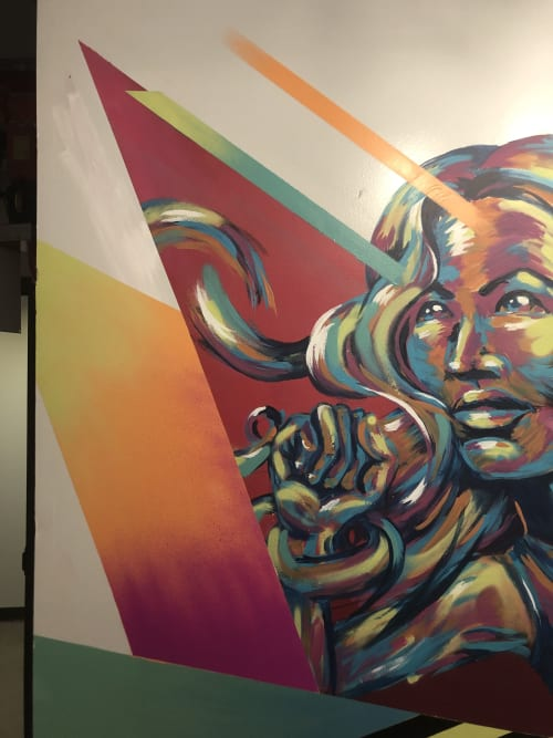 Murals by Bianca Romero seen at Ludlow Fitness, New York - Bianca Romero