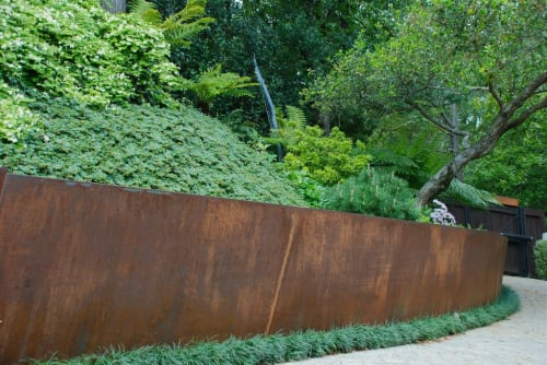 Plants & Landscape by Living Green Design seen at Private Residence, Kentfield - Cor Ten Zen Garden