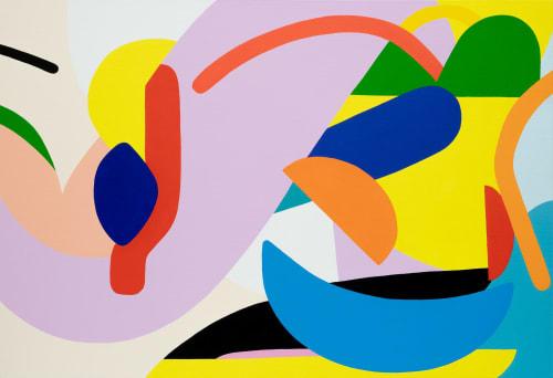 Paintings by Kotaro Machiyama seen at arflex osaka, Osaka - Here