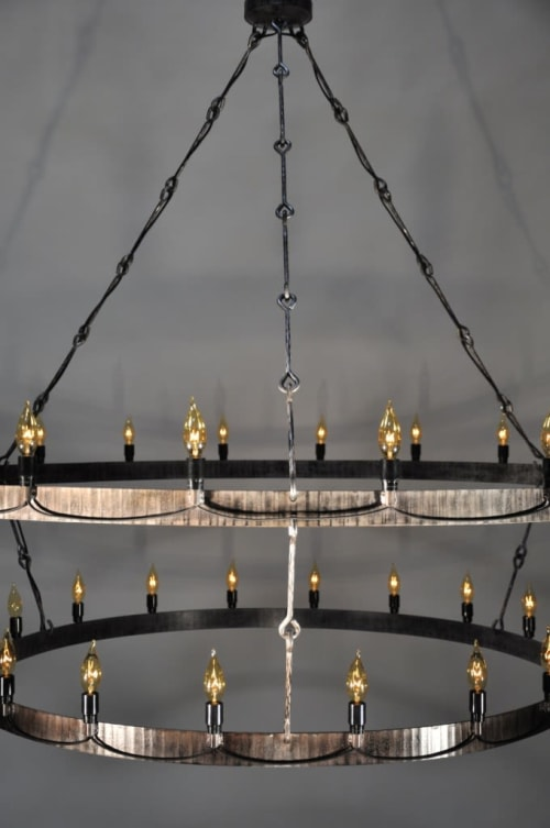 Chandeliers by Form & Reform seen at The Red Rabbit Kitchen and Bar, Sacramento - Red Rabbit Light Fixture