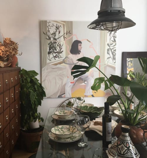 Paintings by Koko Che Jota seen at Private Residence, Seville - Ines and the Lapso Worms