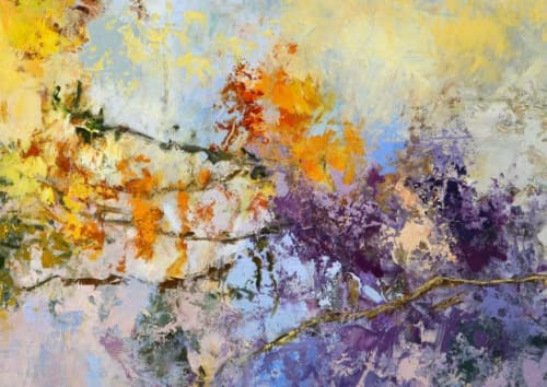 Paintings by Tracy Lynn Pristas seen at Exempla Saint Joseph Hospital, Denver - Abstract Aspen Tree