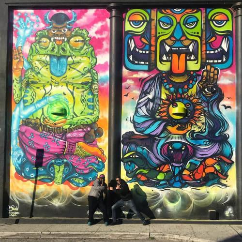 Street Murals by Fábio Panone seen at Studio 60 Nightclub, Miami - Street Mural