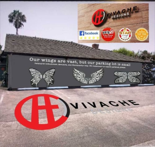 Street Murals by VIVACHE DESIGNS seen at 13367 Ventura Blvd, Los Angeles - Social Media Murals