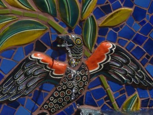 Tiles by Aileen Barr seen at Jardin de Ninos Park, Redwood City - Jardin de Niños