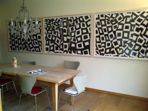 Paintings by Mario M. Muller seen at Private Residence, Weiden - Cashmere Abstraction painting series