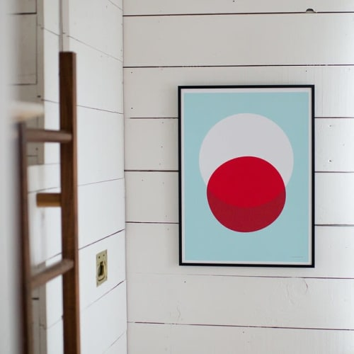 Paintings by Honey & Bloom at Schoolhouse, Portland - Big Red Balloon