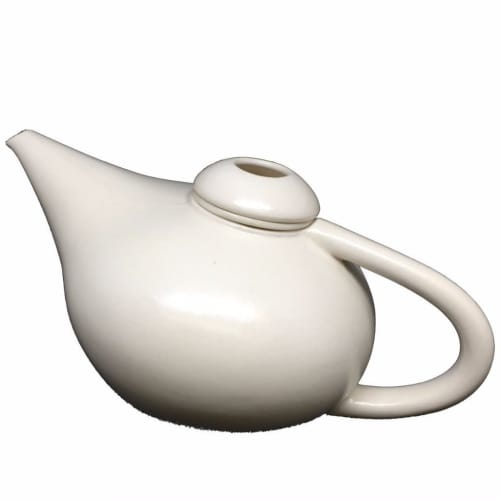 Tableware by Vanessa Lucas seen at Private Residence, Melbourne - Bone Lutea Teapot