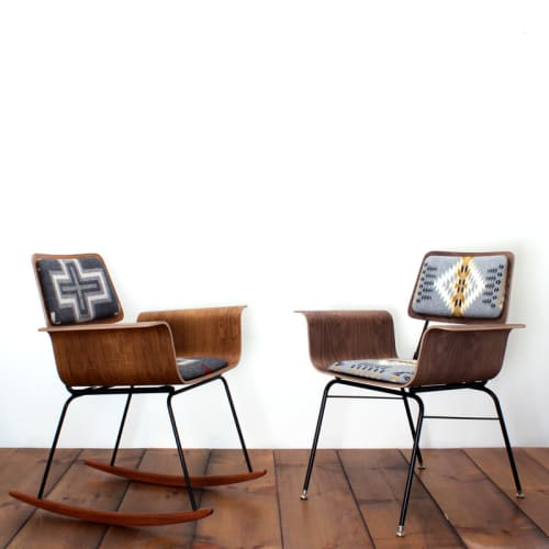 Chairs by ONEFORTYTHREE seen at Private Residence, Montreal - Roxy Rocker
