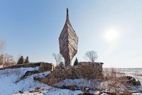 Public Sculptures by Scott Hocking seen at Michigan - Celestial Ship
