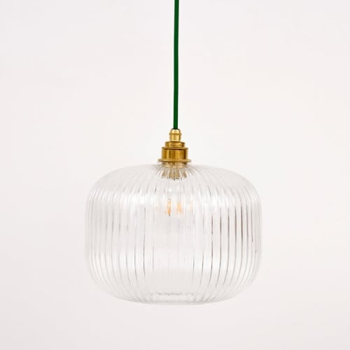 Pendants by Spark & Bell seen at Private Residence, London - Reeded Glass Cylinder Pendant Light
