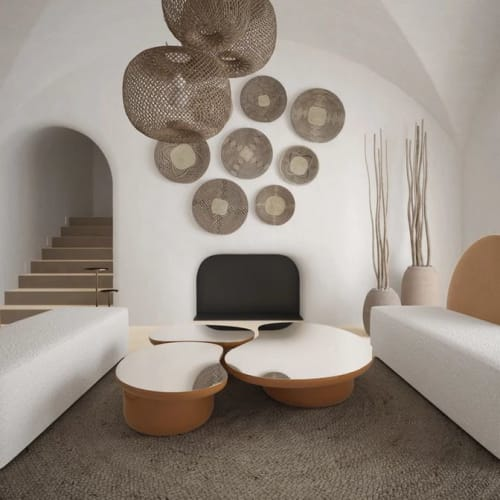 Tables by SECOLO seen at Private Residence, London - Horizon Sofa