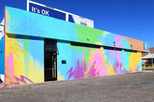 Murals by Sofia Maldonado seen at HOT YOGA downtown, Albuquerque - Vortex on Route 66