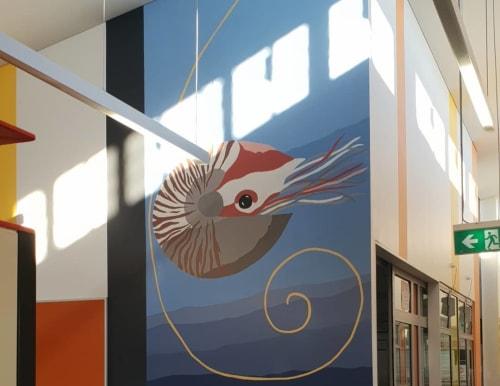 Murals by Toby Tomlinson seen at Baldivis Secondary College, Baldivis - Indoor Mural