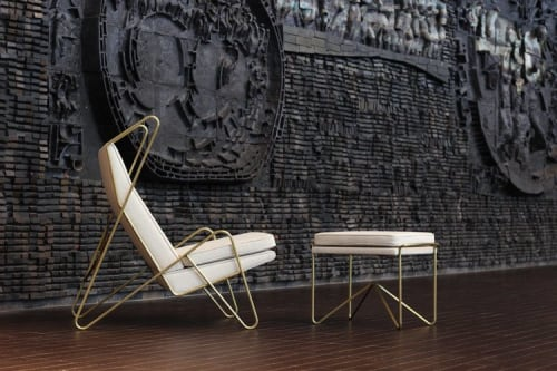 Chairs by Roan Barrion seen at Private Residence, Winnipeg - Series Z Stool