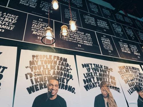 Murals by DesignScout seen at BenjYehuda - La Salle, Chicago - BenjYehuda Interiors
