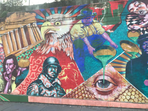 Murals by kyle Holbrook seen at Private Residence, Wilkinsburg - History