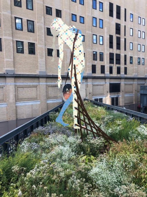 Public Sculptures by Lara Schnitger seen at High Line Open Studios, New York - Sister of the Road