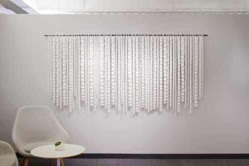 Wall Hangings by Zai Divecha seen at Square Inc, San Francisco - Rain