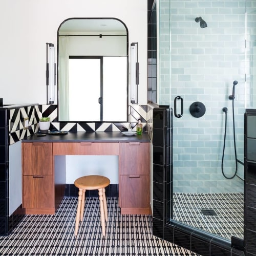 Tiles by clé tile seen at Private Residence, Los Angeles - Jacobson Tile