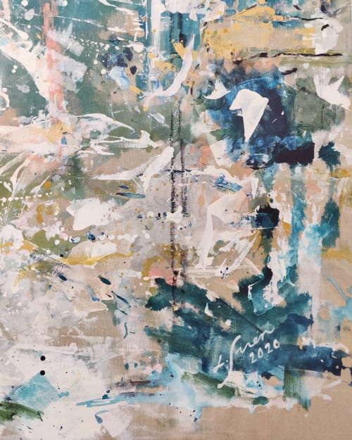 Paintings by Lotta Sirén seen at Creator's Studio, Espoo - A Piece of my Space #1
