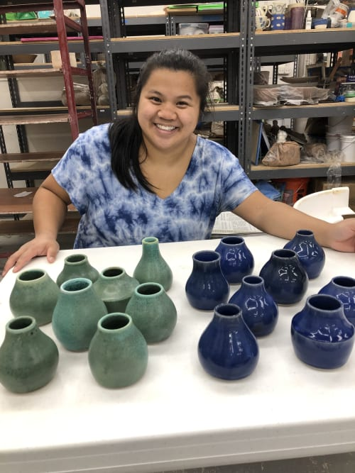 Vases & Vessels by Katie Meili Pottery seen at Asheville Art Museum, Asheville - Bud Vases