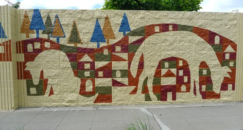 "Murals by Martin Webb seen at West Winton Avenue, Hayward - ""Stream"" Mural"