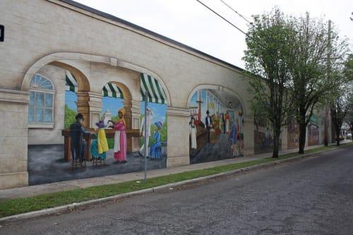 Murals by Max Bernardi Art & Murals seen at Breaux Mart on Magazine, New Orleans - Makin' Groceries