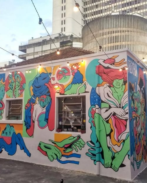 Murals by Andre Morbeck seen at Centro Pesca, Setor Central - Wall Mural