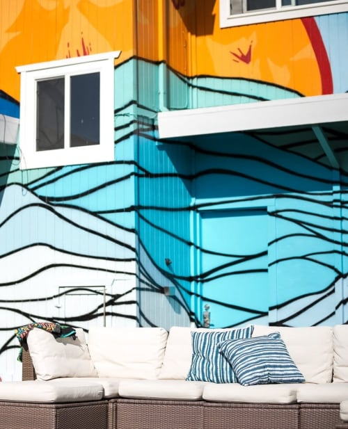 Murals by Strider Patton seen at Private Residence, Novato - Residential Mural