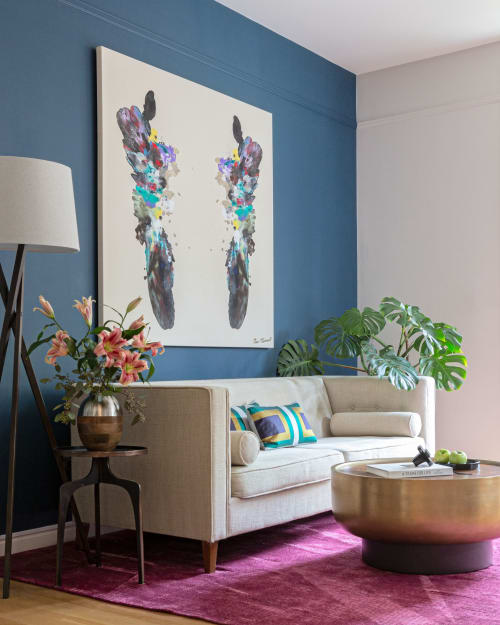Paintings by Makewell Art seen at Private Residence, Los Angeles - Winged No. 9
