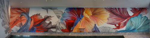 Murals by Julia Faber seen at Private Residence, Vienna - Indoor Mural