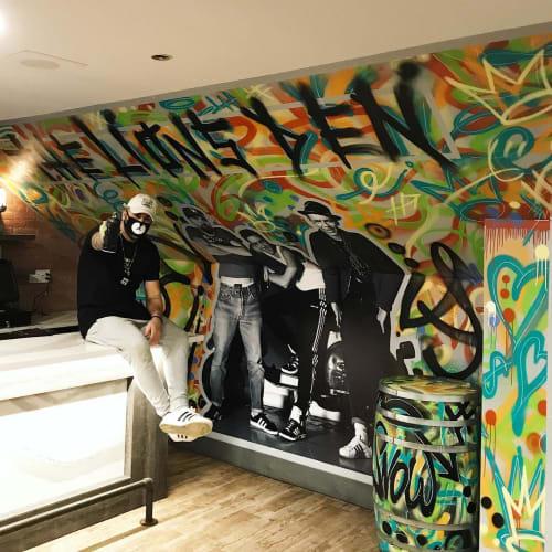 "Murals by Art by D-Snow seen at The King's Arms Oakville, Oakville - ""Lion's Den"" Mural"