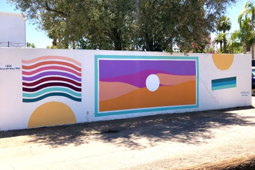 Street Murals by Buhlaixe Studio seen at Private Residence, Phoenix - Encanto