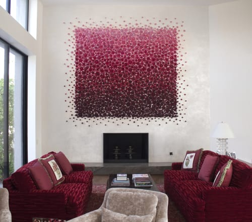 Murals by Carson Fox Studio seen at Private Residence, Palm Springs - Desert Red Ombre