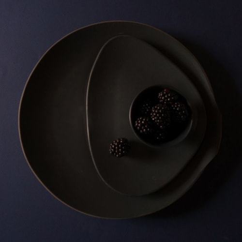 Ceramic Plates by Mieke Cuppen seen at Bistrobar Berlin, Nijmegen - Gastro Black plate medium