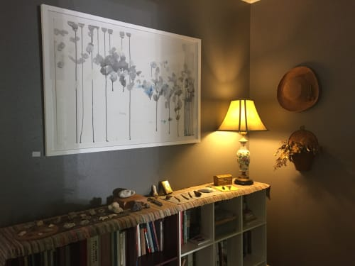 Paintings by Caroline Wright at Private Residence, Austin - Palimpsest