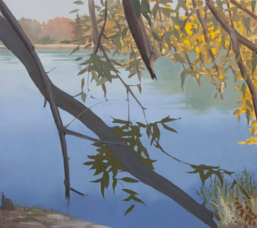 Gliwice Pond | Paintings by Abraham Storer