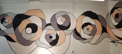 Murals by Seibot seen at Kauno, San Francisco - Rose room