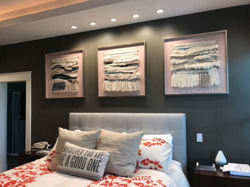 Wall Hangings by Cristina Ayala seen at Private Residence - Dallas, TX, Dallas - Framed tapestry series