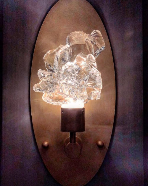 Sconces by Hyland Glass seen at Louisville, Louisville - Scratch Sconce