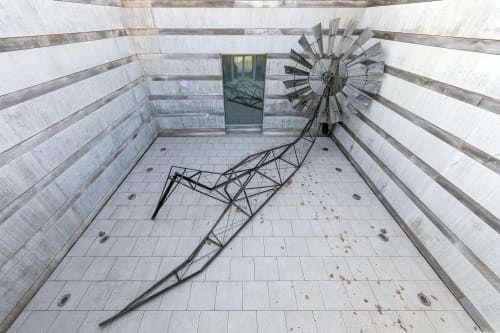 Public Sculptures by Scott Hocking seen at Crystal Bridges Museum of American Art, Bentonville - Arkansas Traveler (2020)
