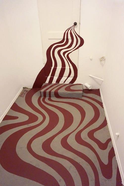 Teros Gallery Floor Mural | Murals by David Peña