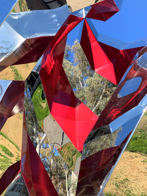 Public Sculptures by Geoffrey Drake-Brockman seen at University of Canberra Library, Bruce - One