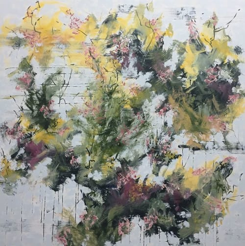 Botánica 12-8   Paintings by DAVID SKILLICORN - American Abstract Painter