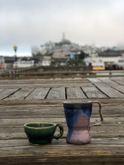 Cups by Solana Beach Pottery seen at Private Residence, San Francisco - Atlantis Mugs