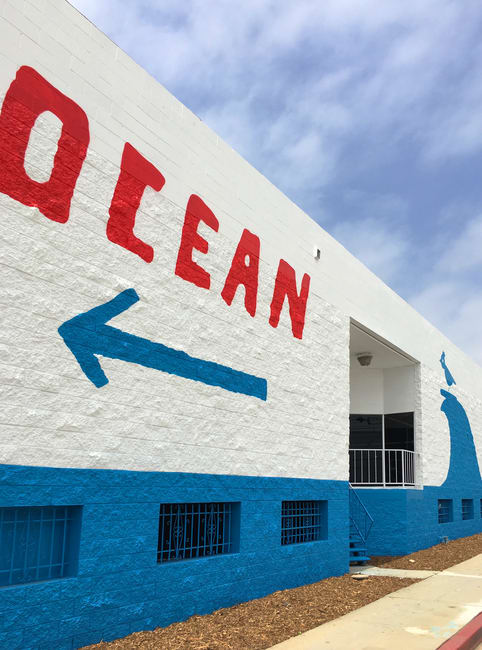 Street Murals by Brian Rea at Expo Line Santa Monica Station, Santa Monica - Ocean Other Stuff