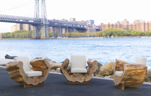 Chairs by Andre Joyau seen at Private Residence, Brooklyn - Cocoon Chairs