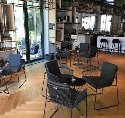 Chairs by Mark Gabbertas seen at Hyatt Regency Amsterdam, Amsterdam - Sandur Chairs